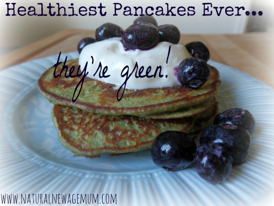 Healthiest Pancakes Ever They're Green!