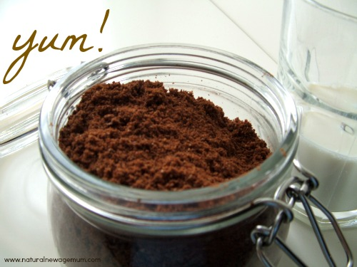 Make your own healthy chocolate drink mix!