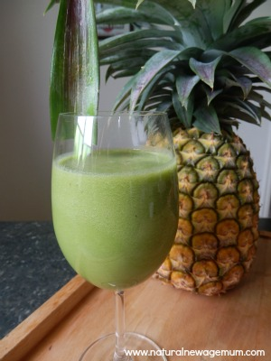 Pineapple Mint GreenTea Green Smoothie