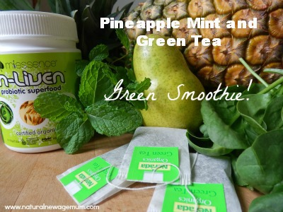Pineapple Mint Green Tea Green Smoothie