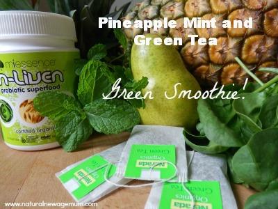 Pineapple Mint Green Tea Green Smoothie