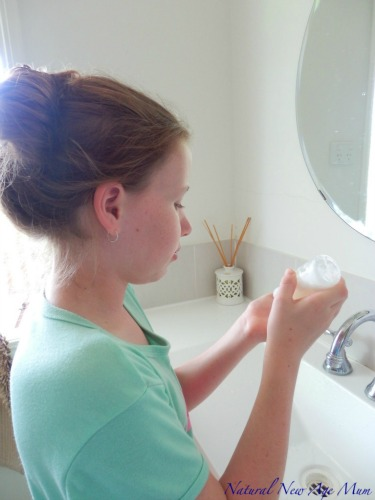 Make your own organic face wash
