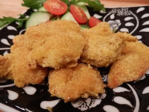 Polenta crumbed chicken nuggets