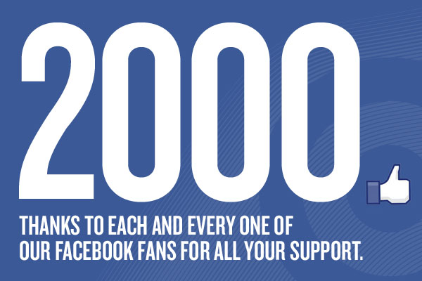 2000 Facebook Likers Celebration!