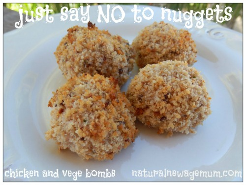 chicken and vege bombs