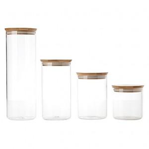 Bamboo Glass Jars