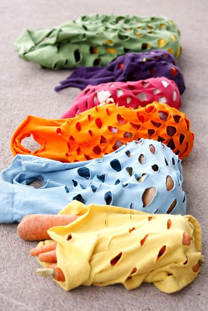 Mesh bags = less plastic!
