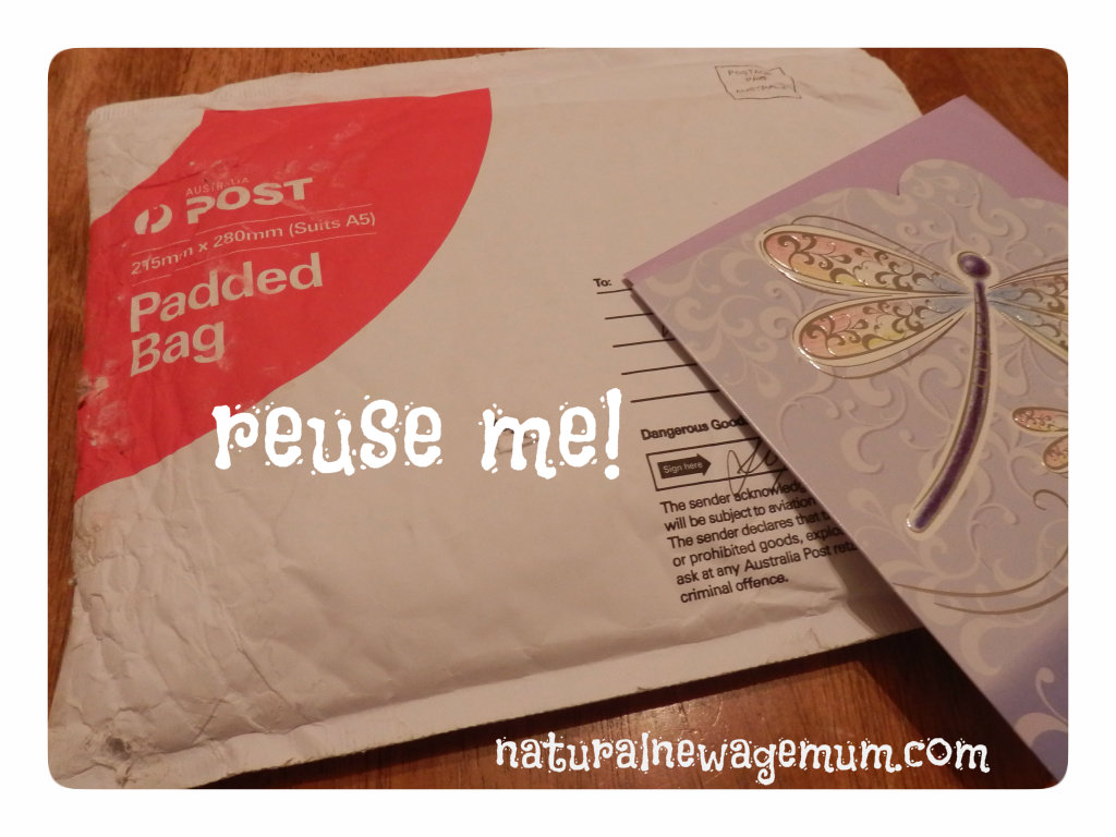 Enviro Tip – Reuse your post bags and boxes!