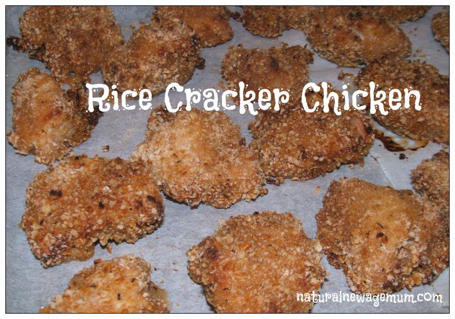 Rice Cracker Chicken – two ways to make healthy chicken nuggets