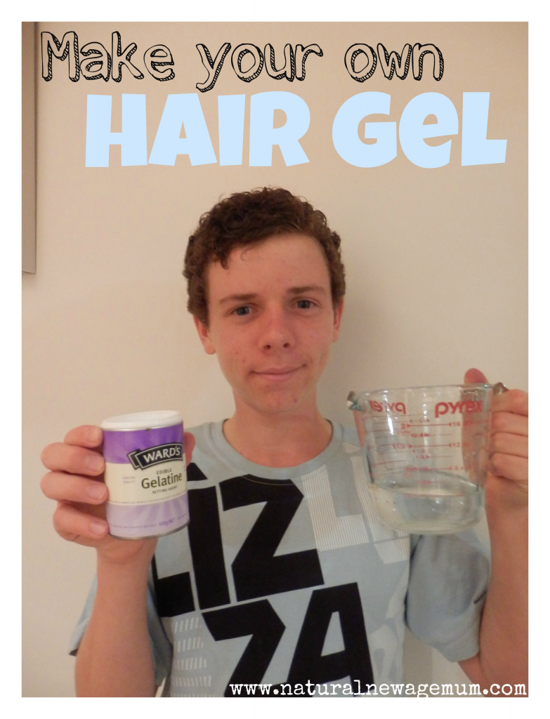 The Natural New Age Boy makes his own hair gel!