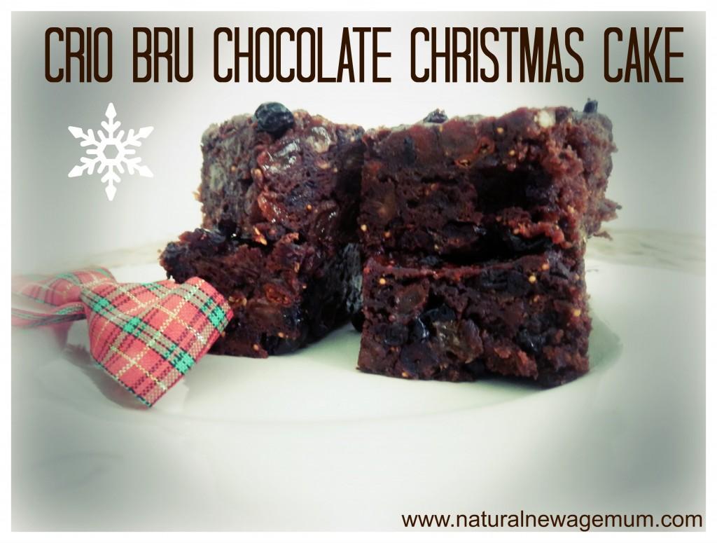 Crio Bru Chocolate Christmas Cake