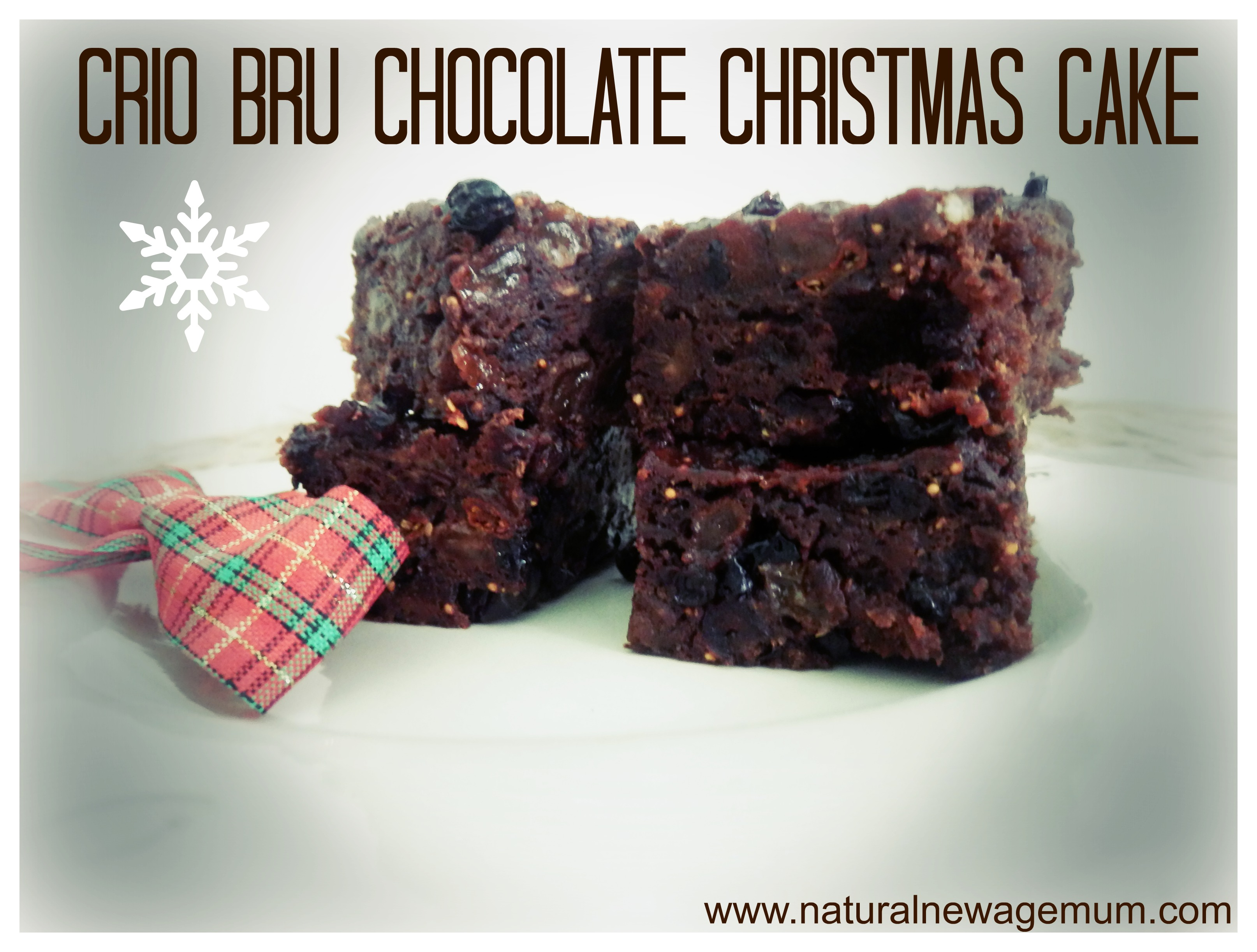 Crio Bru Chocolate Christmas Cake