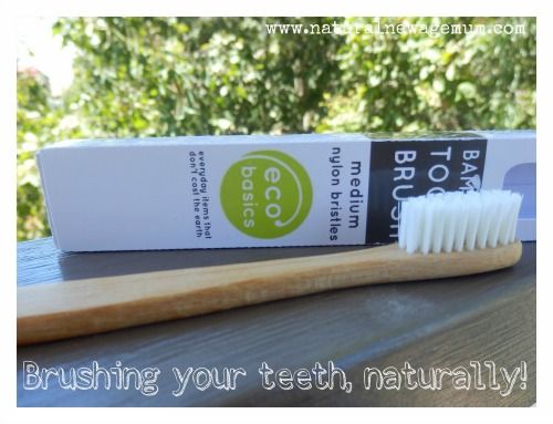 Brushing your teeth, naturally!