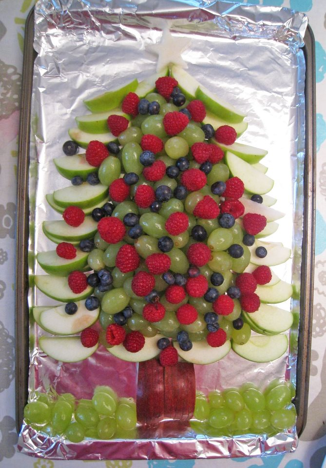 Healthy Fruit Xmas Tree