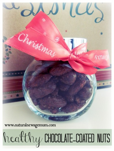 Healthy Chocolate Coated Nuts
