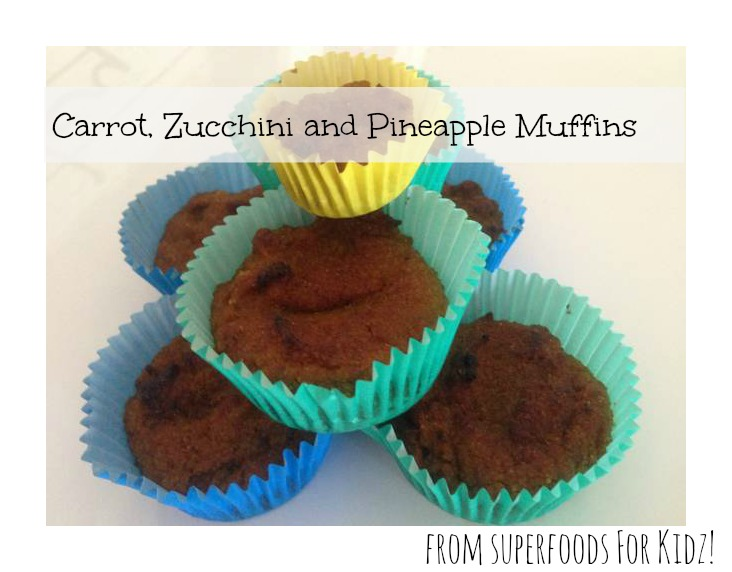 Carrot, Zucchini and Pineapple Muffins