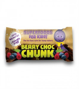 Nutra Organics Super Foods for Kids Berry Choc Chunk Bar