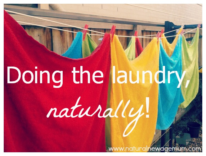 Doing the laundry, naturally!