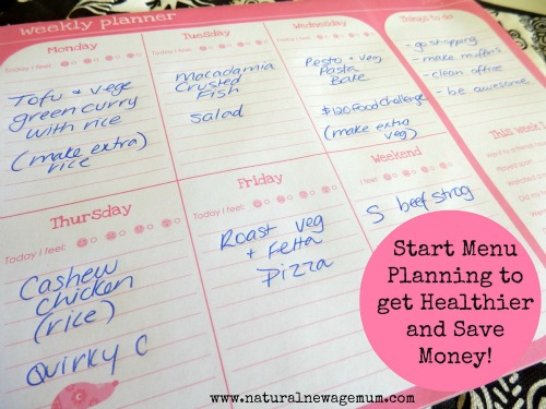 Start Menu Planning to get Healthier and Save Money