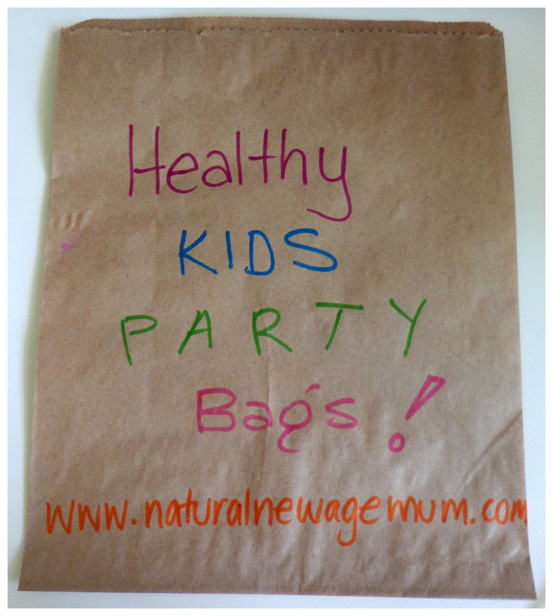 Healthy Kids Party Bags Natural New Age Mum