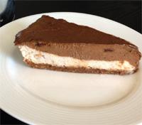Raw Chocolate Banana Mousse Cake