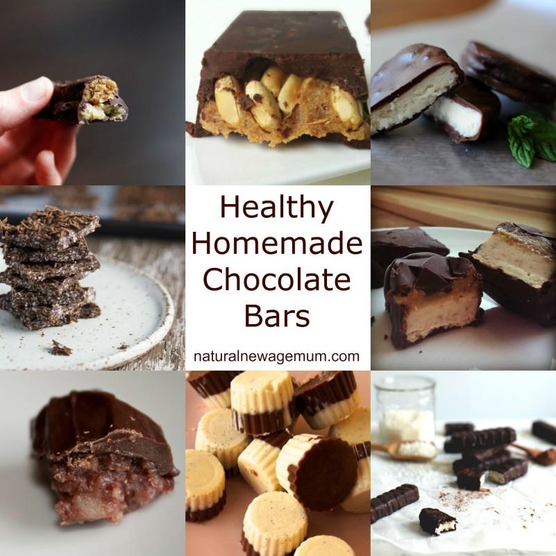 Healthy home-made chocolate bars!