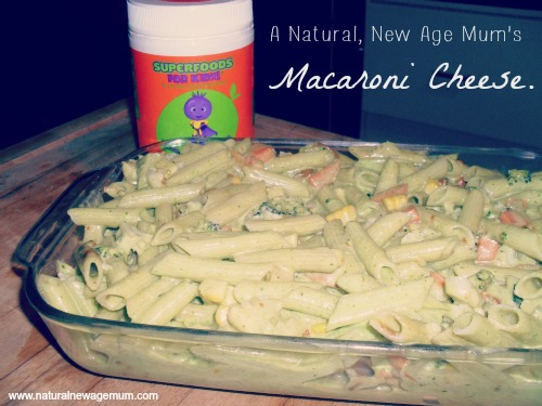 A natural, new age mum's macaroni cheese