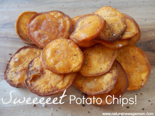 Sweeeeet Potato Chips www.naturalnewagemum.com