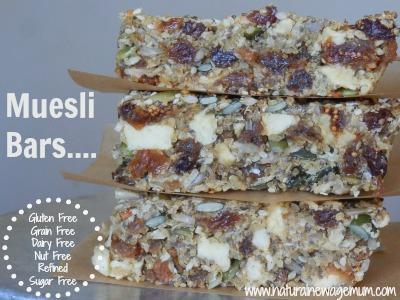 Gluten-Free, Nut-Free Muesli Bars