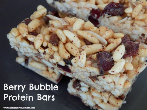 Berry Bubble Protein Bars