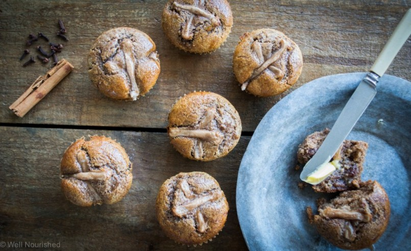 Healthy Hot Cross Buns - Well Nourished