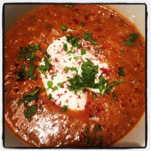 Middle Eastern Lentil Soup from Nourishing Hub