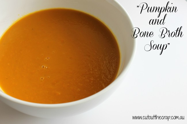Pumpkin-and-Bone-Broth-Soup from Cut out the Crap