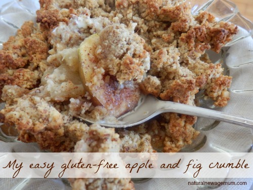 My easy gluten free apple and fig crumble