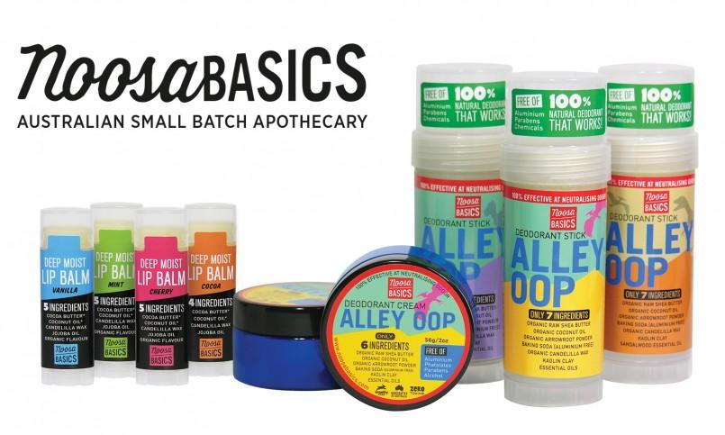 Noosa Basics Lip Balms and Deodorants at The Organic Store