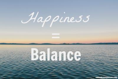 Happiness = Balance