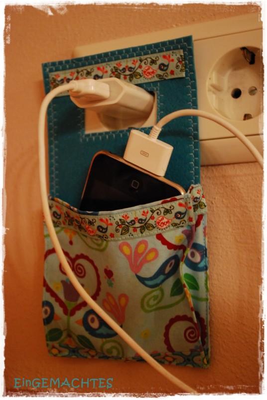 Handmade Iphone recharger holder