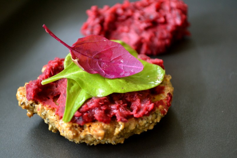 Rosemary Crackers with Beetroot Dip (Marinya Cottage Kitchen)