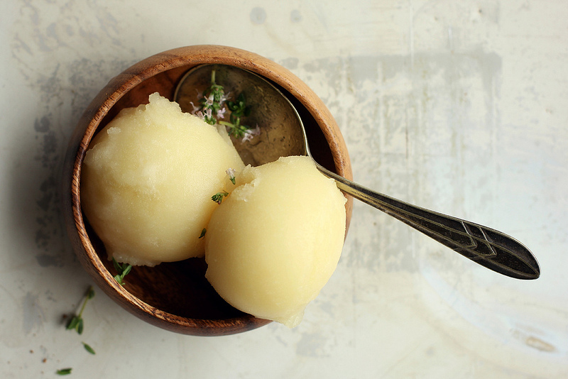 Lemon, Honey and Thyme Sorbet by My Darling Lemon Thyme