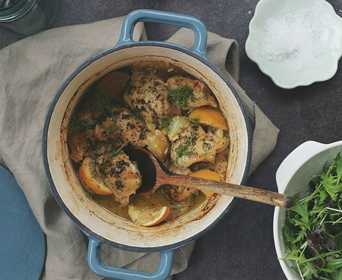 Chicken with Fennel, Apple and Lemon by Petite Kitchen