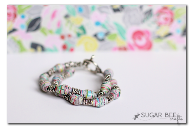 paper beaded bracelet how to make