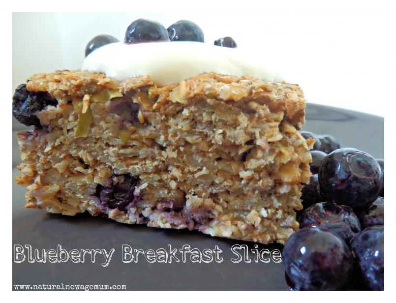 Blueberry Breakfast Slice.
