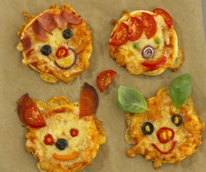 Animal Pizza Faces
