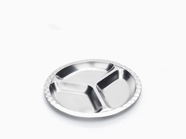 Onyx Stainless Steel Kids' Plate