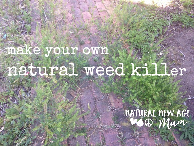 Make your own natural weed killer