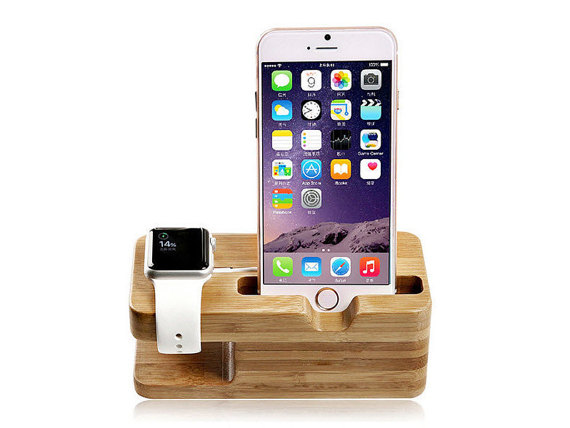 Bamboo Phone Stand and Charging Station