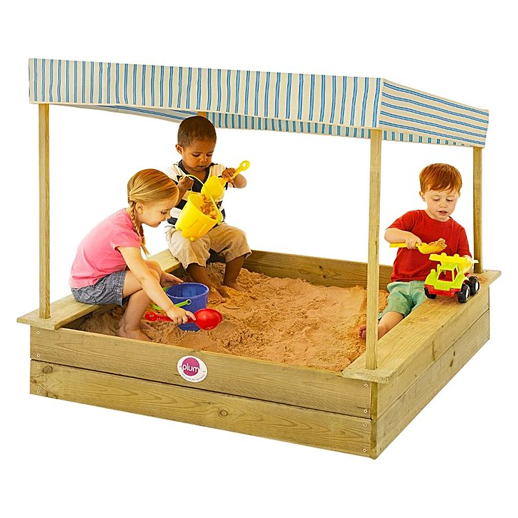 Wooden Sandpit with Canopy