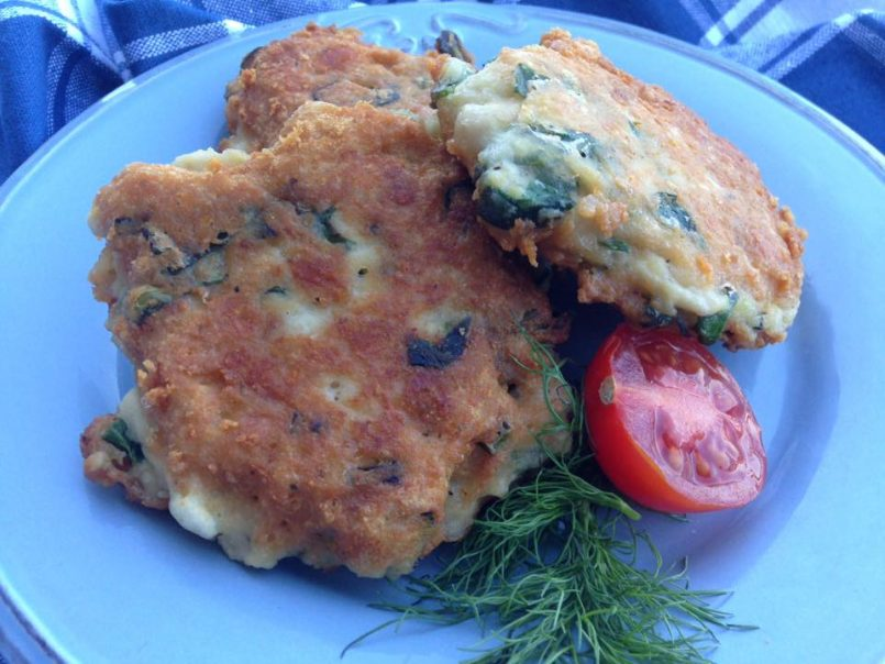Chicken and Spinach Fritters