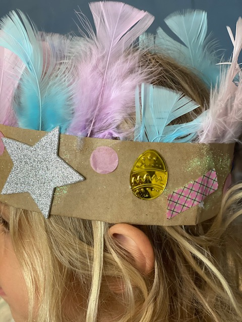 A Recycled Easter Crown Bonnet Easter Craft